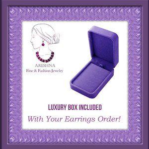 Areshna Jewelry - Swarovski Crystals Luxury Dangle Earrings